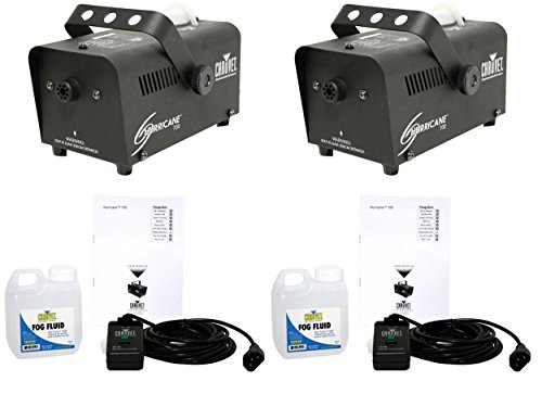 [(2) Chauvet DJ HURRICANE 700 H-700 Fogger H700 Fog/Smoke Machines + Fog Fluid] (Small Fog Machines)