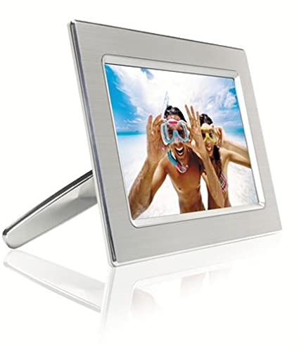 Amazon.com : Philips 9-Inch Digital Picture Frame (Metal) : Photo ...