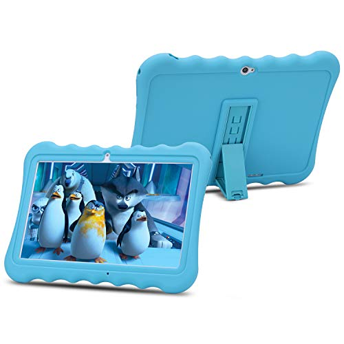 10 inch Kids Tablet PC Android 6.0 OS Full HD Display Tablets for Kids 1GB RAM 16 GB Storage Quad-Core 1.3Hz WiFi Tablet Soft Shock&Kid-Proof Case … (Blue)