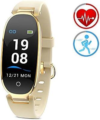 ZKCREATION Reloj Inteligente Mujer Pantalla en Color con Pulsera de Actividad Pulsómetro IP67 Impermeable Podómetro Monitor de Sueño Fitness Tracker ...