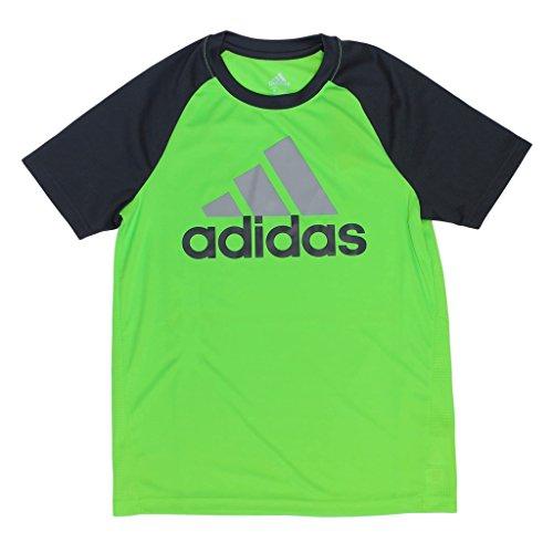 - Adidas Climacool Raglan Performance T-Shirt for Boys (Medium / 10-12, Neon Green)