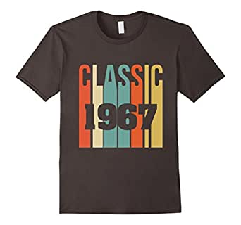 Mens Retro Classic 1967 T-Shirt 50th - Birthday T-shirt 2XL Asphalt