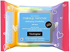 Neutrogena Makeup Remover Cleansing Towelettes, Daily Cleansing Face Wipes to Remove Waterproof Makeup and Mascara