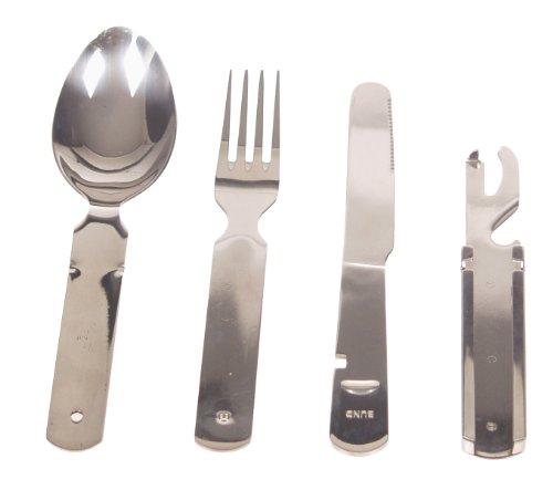 MFH Essbesteck Bw 4 Teilig Schwere Ausführung, Silber