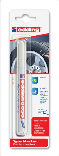 edding 4-8050-1-4049 Spezial-, Reifenmarker DIY, 2 - 4 mm, weiß