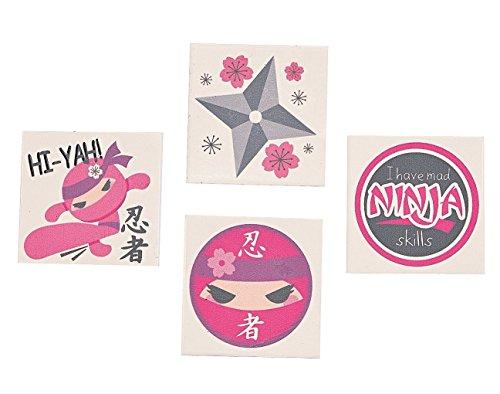 Ninja Girl Tattoos - 72 pc