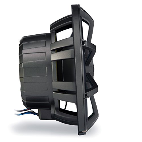 """Kicker Km8 8-inch (200mm) Marine Coaxial Speakerswith 1"""" Tweeters,led Charcoal & White Grilles,4-ohm"""
