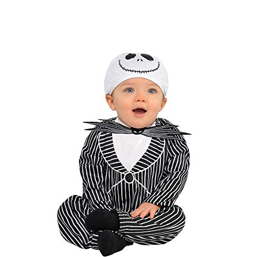 Party City The Nightmare Before Christmas Jack Skellington Halloween Costume for Infants, 12-24 Months, with Hat -