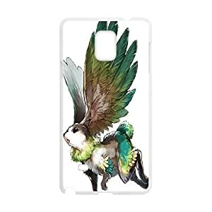 Yearinspace the Rabbit Can Fly Samsung Galaxy Note 4 Cases, Protector Samsung Galaxy Note4 Case for Girls {White}