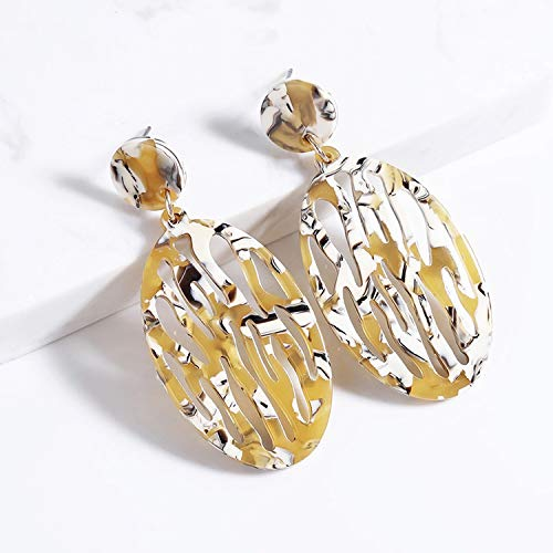 Reed Spacer Beads - Newly Gift Christmas giftsTrendy Irregular Hollow Acid Acrylic Earrings for Women Elegant Design Jewelry pendientes oorbellen Brincos,005