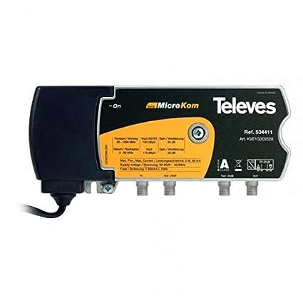 Televes - Amplificadores catv 30 / 35db con rk 5-65 mhz 28 kve1g303528