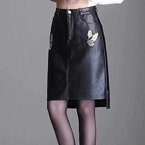 Taille Grande Crayon Bodycon FS1054 PU Mini Jupe Noir Girl Cuir E Club 86qFHx8