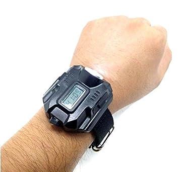 381d1bdd84 Eornmor充電式 腕時計型 1000ルーメン強力ライト LED懐中電灯 リストライト 探検ウォッチ