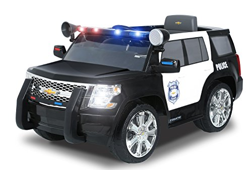- Rollplay 6 Volt Chevy Tahoe Police SUV Ride On Toy, Battery-Powered Kid's Ride On Car