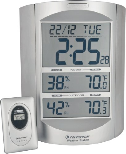 Image of Celestron 47007 Large Format LCD Weather Station (Silver)
