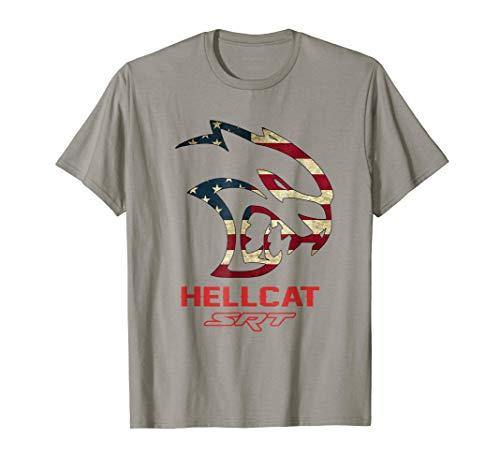 Hell cat SRT Dodge Shirt Vintage Flag US for men women kids