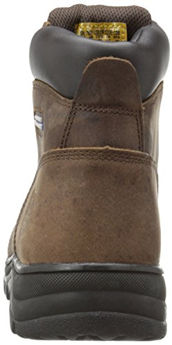 Skechers for Work Women's Workshire Peril Boot, Dark Brown, 8 M US