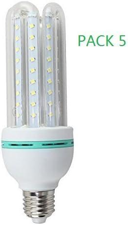 Bombilla LED E27 7W (PACK 5) Transparente Luz Fría 6000k Lúmenes ...
