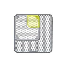 KitchenCraft - Juego de 3 alfombrillas protectoras ajustables para fregadero, 30 x 30 cm, color gris y verde