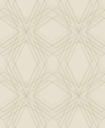 A-Street Prints 2908-87106 Relativity Beige Geometric Wallpaper ()