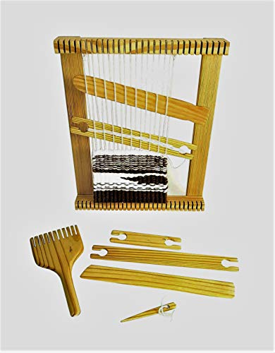 24x36 Inch Weaving Loom with Tapestry Beater,shuttles and Shed Stick. Free Needle Included (24x36)