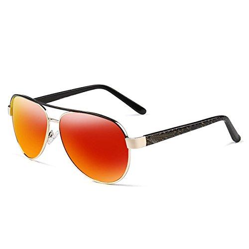 LQQAZY Conductor Sol Deporte Gafas GoldFrameReflectiveFilmOrange del Hombres De Polarizador Gafas GoldFrameDarkGreen Sol Gafas Tendencia Gafas Sol para De Conducción De Colorido De HzHw6qr