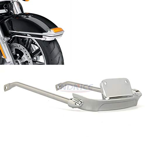 Chrome Air Wing Front Fender Rail for harley Electra Glide Ultra Classic FLHTCU fender rail bracket FLHTK fender trim -