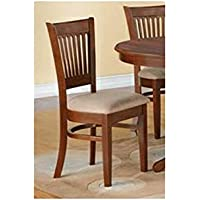 Microfiber Upholstered Chair in Espresso Finish - Set of 2