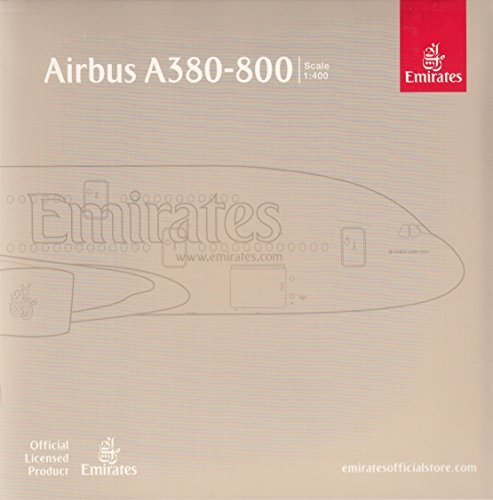 GeminiJets Emirates A380-800 'Paris St. Germain' Airplane Model (1:400 Scale) (Emirates 1 400)