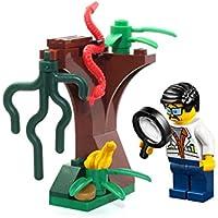 LEGO MiniFigure: Jungle Scientist (White Lab Coat) w/...