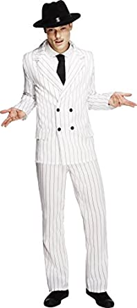 1940s Men's Costumes: WW2, Sailor, Zoot Suits, Gangsters, Detective Fever Mens Gangster Costume $71.49 AT vintagedancer.com