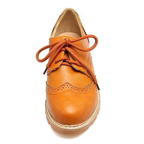 Tacco Donna Yellow Moda Brown Scarpe TAOFFEN Con 6044 q4xnEvxz