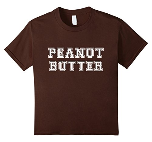 Kids Peanut Butter & Jelly Couples Friends His Hers Costume Shirt 10 Brown (Duo Costumes For Friends)