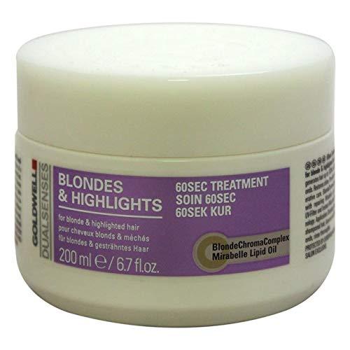 Goldwell Dualsenses Blondes & Highlights Anti-Yellow 60sec Treatment Revitalize Luminous Color 6.7oz