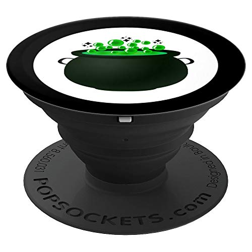 Cauldron Phone Grip Gift Halloween Magic Pagan Wiccan Witch - PopSockets Grip and Stand for Phones and Tablets