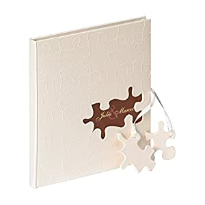 Walther Design Gb 173 Puzzle Libro Degli Ospiti 144 Pagine Bianche 23 X 25 Cm