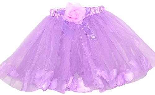 Rose Fairy Tutu with Petals (More Colors...) Select Color: Lavender