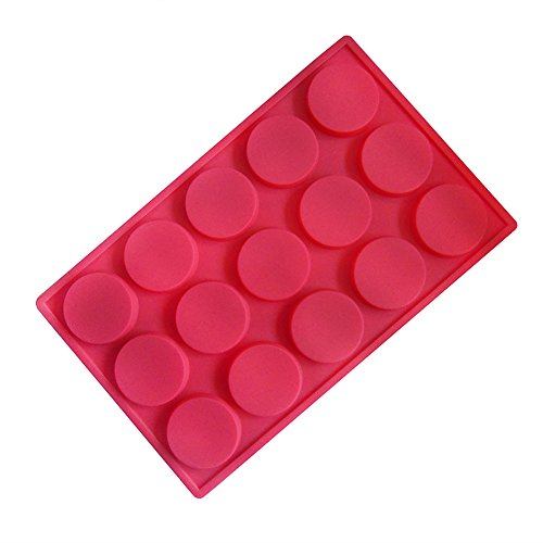 Cookie Cylinder - QELEG 15 Holes Silicone Cylinder Round Cookie Molds, Soap, Chocolate, Candy and Gummy Mold