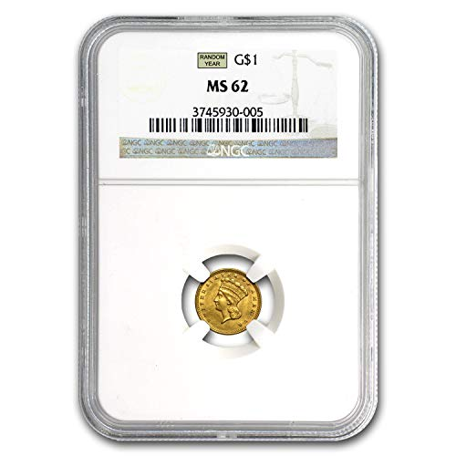 1854-1856 $1 Indian Head Gold Type 3 MS-62 NGC/PCGS G$1 MS-62 -