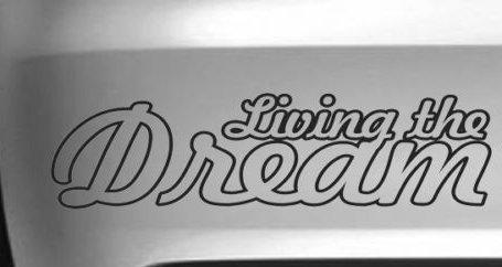 50%OFF Living the Dream面白い車ビニールデカールDriftビニールデカールグラフィック、Die Cut Vinyl Inch Decal Decal for Vinyl Windows車、トラック、ツールボックス、ノートパソコン、ほぼすべてmacbook-ハード 8 Inch グレイ Titans-Unique-Design-120006-GRY-8-In 8 Inch ライトブルー B0723HDJNC, ホームセンターヤマキシ:51cb09dd --- kickit.co.ke