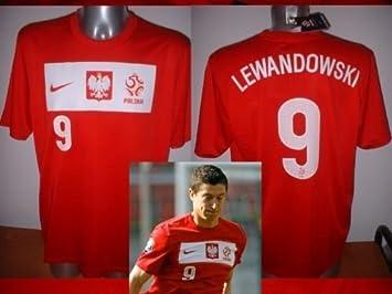 Adidas Polonia Lewandowski Adulto XL Nike - Camiseta de la selección de fútbol de Polska Bayern Múnich Munchen casa Rojo: Amazon.es: Deportes y aire libre