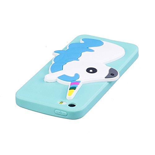 iPhone 5 5S SE Hülle , Leiai 3D Einhorn Leicht TPU Weich Tasche Schutzhülle Silikon Etui Handyhülle Stoßdämpfende Schale Fall Case Shell für Apple iPhone 5 5S SE