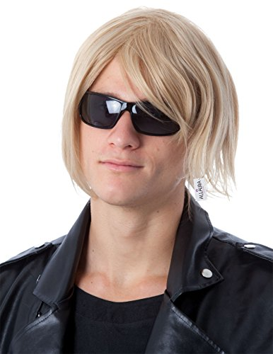 ALLAURA Kurt Cobain Wig – Blonde Shag Wig - 90s Costume Grunge Rocker for Men and Kids by ALLAURA (Image #2)