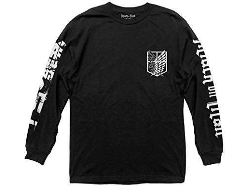 Ripple Junction Attack on Titan Scout Shield Long Sleeve Crew Neck Shirt XL Black (Attack Shield)