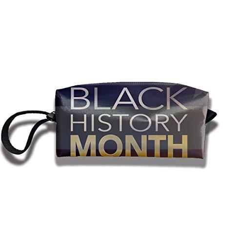 Coin Pouch Black History Pen Holder Clutch Wristlet Wallets Purse Portable Storage Case Cosmetic Bags Zipper ()