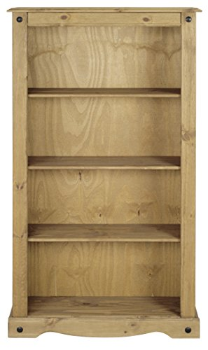 Mews Corona Medium Bookcase, Mexican Pine