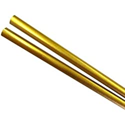 "Japanese Style Wooden Hashi Gold Lacquer 9"" Chopsticks, Bulk Pack of 50 Pairs"