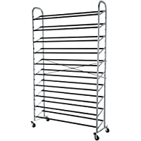 AmazonBasics 50-Pair Shoe Rack Organzier