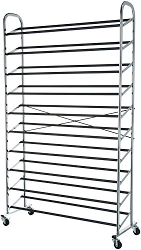 (AmazonBasics 50-Pair Shoe Rack Organzier)
