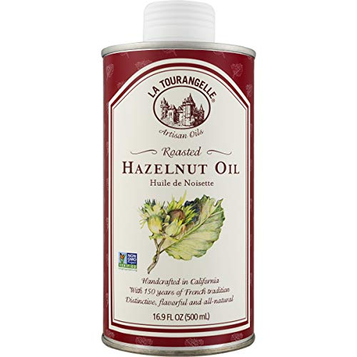 La Tourangelle Roasted Hazelnut Oil 16.9 Fl. Oz., All-Natural, Artisanal, Great for Salads, Fruit, Fish or Vegetables